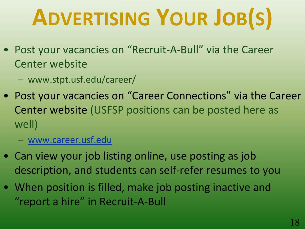 Advertising Your Job(s)