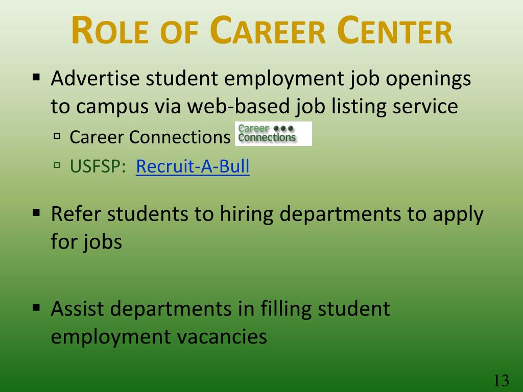 Role of Career Center