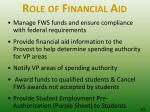 role of financial aid