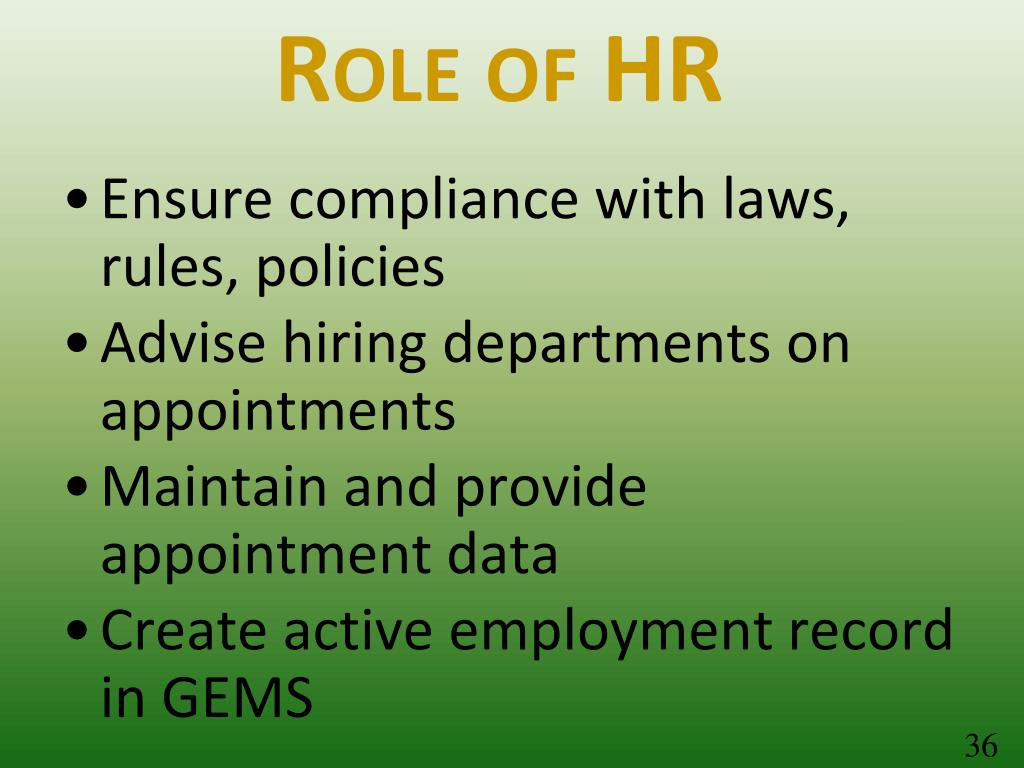 Role of HR