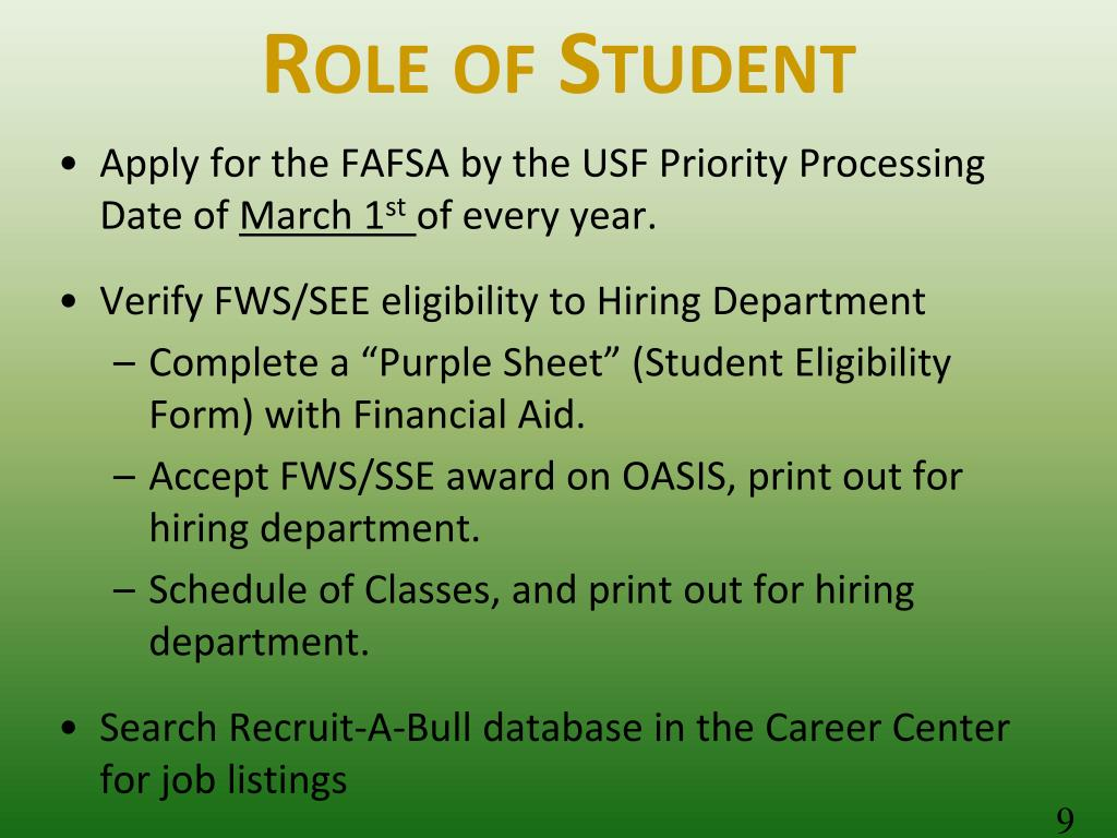 Role of Student