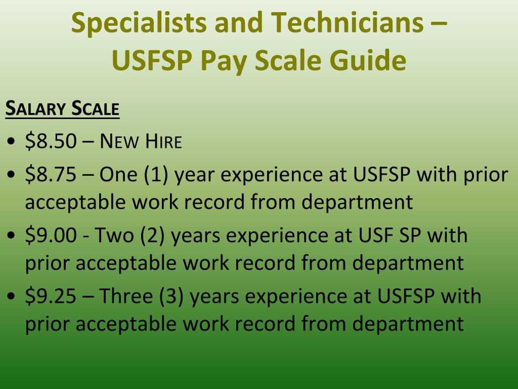Specialists and Technicians –