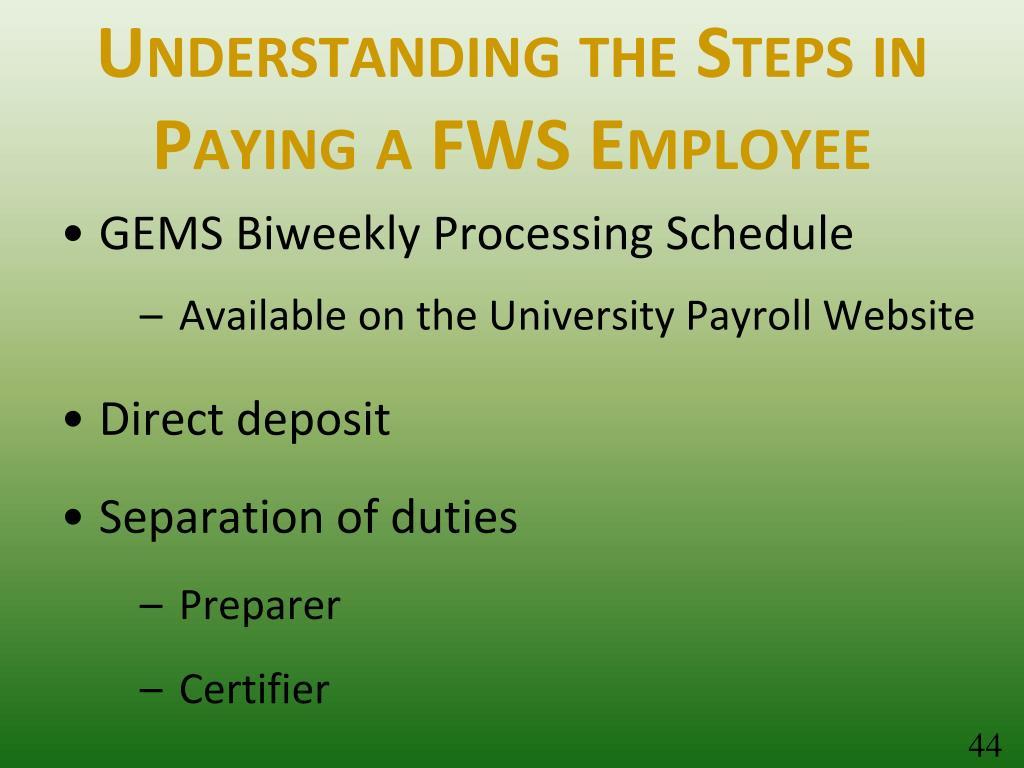 Understanding the Steps in