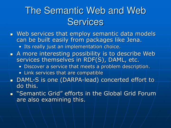The Semantic Web and Web Services