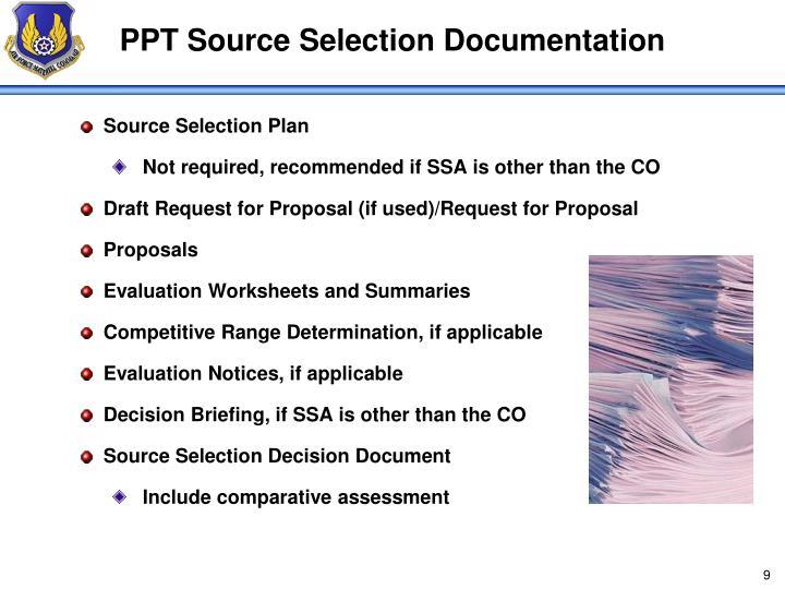 PPT Source Selection Documentation