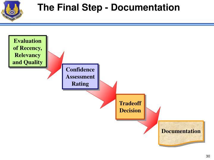 The Final Step - Documentation