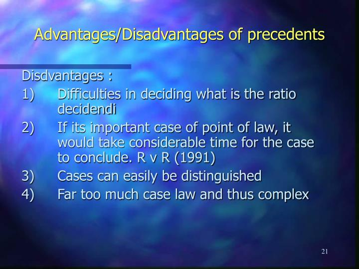 advantages and disavantages of law making