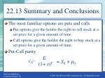 22 13 summary and conclusions