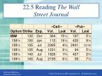 22 5 reading the wall street journal