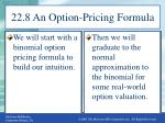 22 8 an option pricing formula
