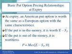 basic put option pricing relationships at expiry