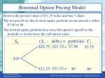 binomial option pricing model2