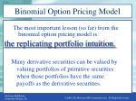 binomial option pricing model5
