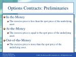 options contracts preliminaries