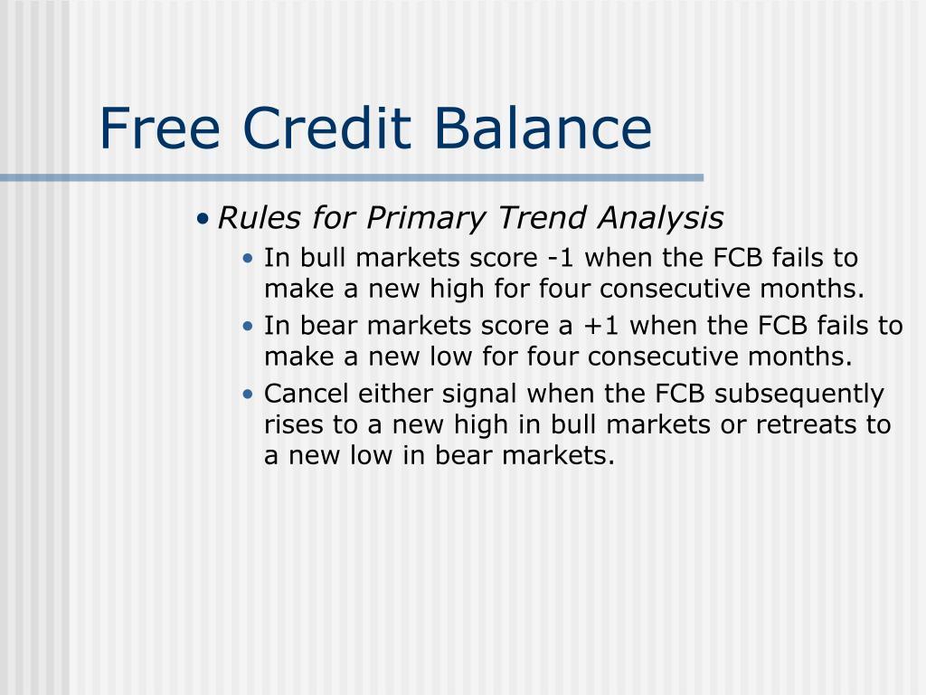 Free Credit Balance