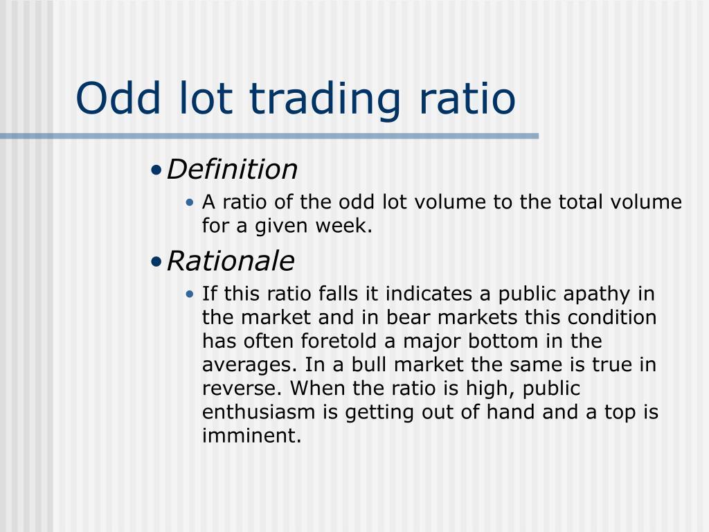 Odd lot trading ratio