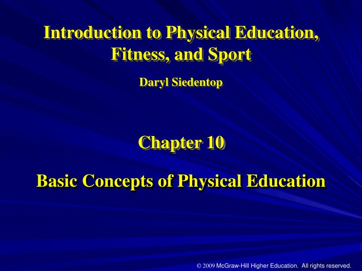 basic concepts of physical education n.
