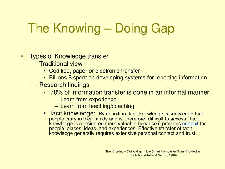 The knowing doing gap3