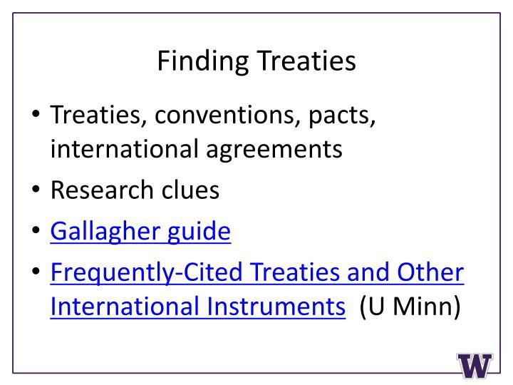Finding Treaties