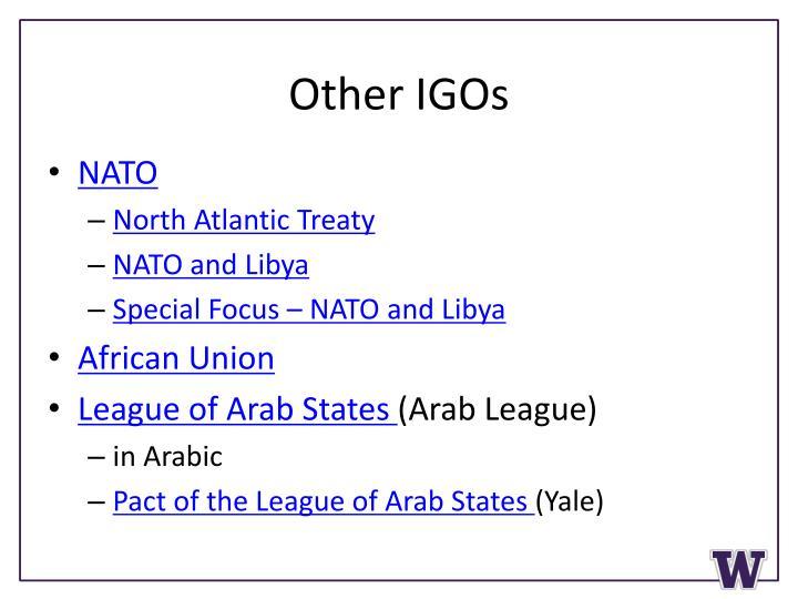 Other IGOs