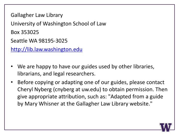 Gallagher Law Library