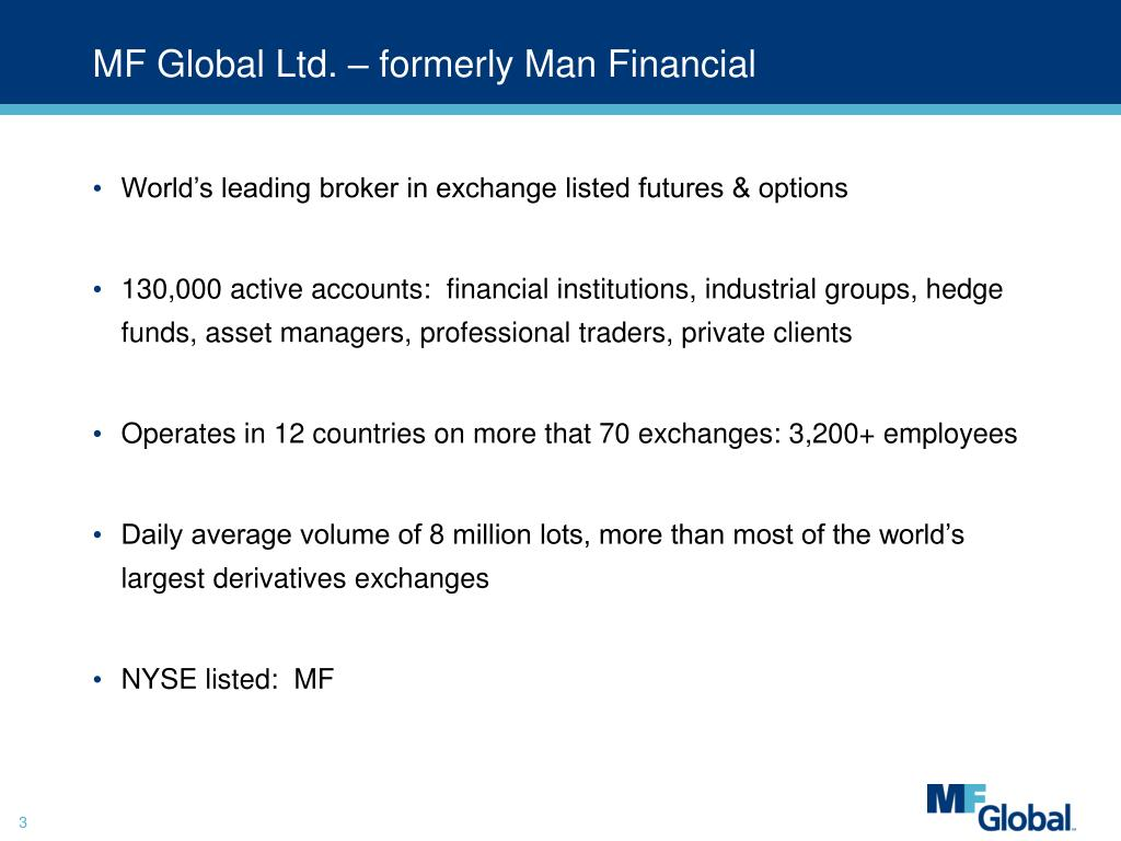 MF Global Ltd. – formerly Man Financial