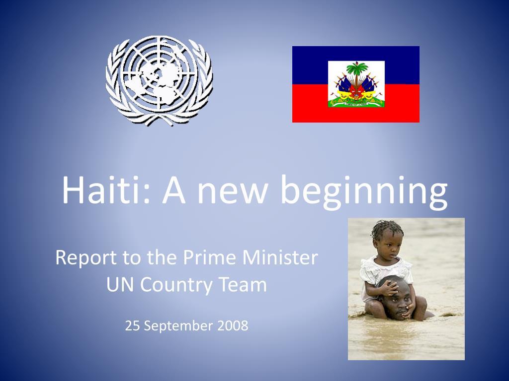 haiti a new beginning l.