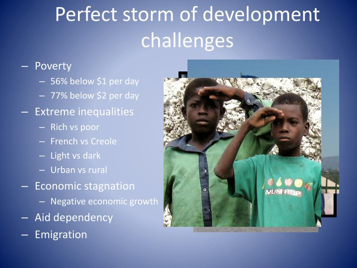 Perfect storm of development challenges