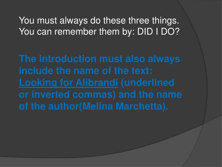 english communication looking for alibrandi Free sample family essay on looking for alibrandi: influence of family.