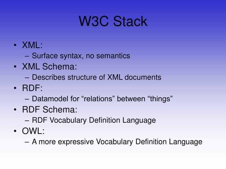 W3C Stack