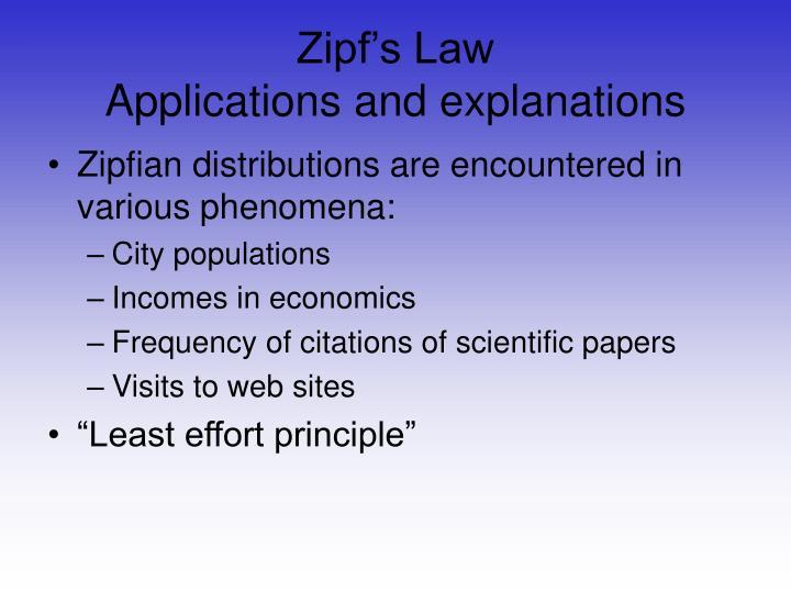 Zipf's Law