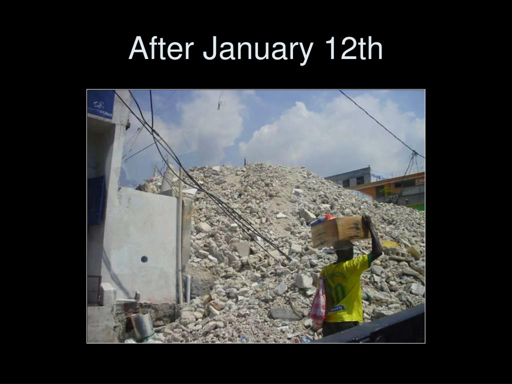 After January 12th