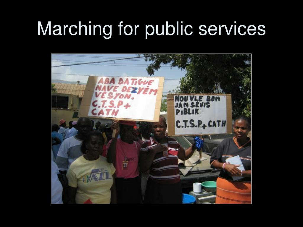 Marching for public services