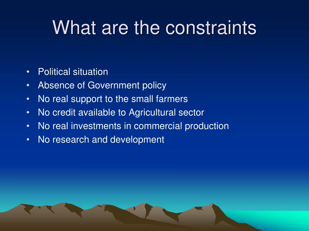 What are the constraints