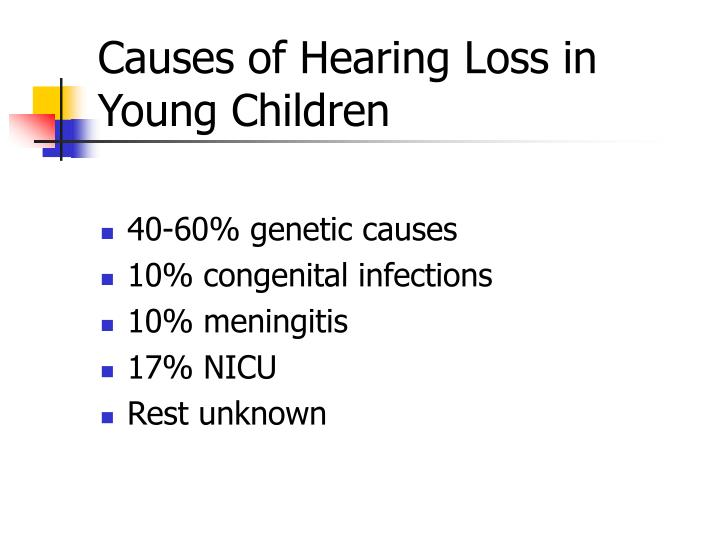 Causes of Hearing Loss in Young Children