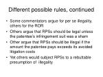 different possible rules continued