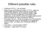 different possible rules