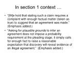 in section 1 context