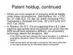 patent holdup continued3