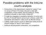 possible problems with the linkline court s analysis