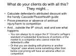 what do your clients do with all this they might