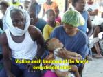 victims await treatment at the army s overextended clinic