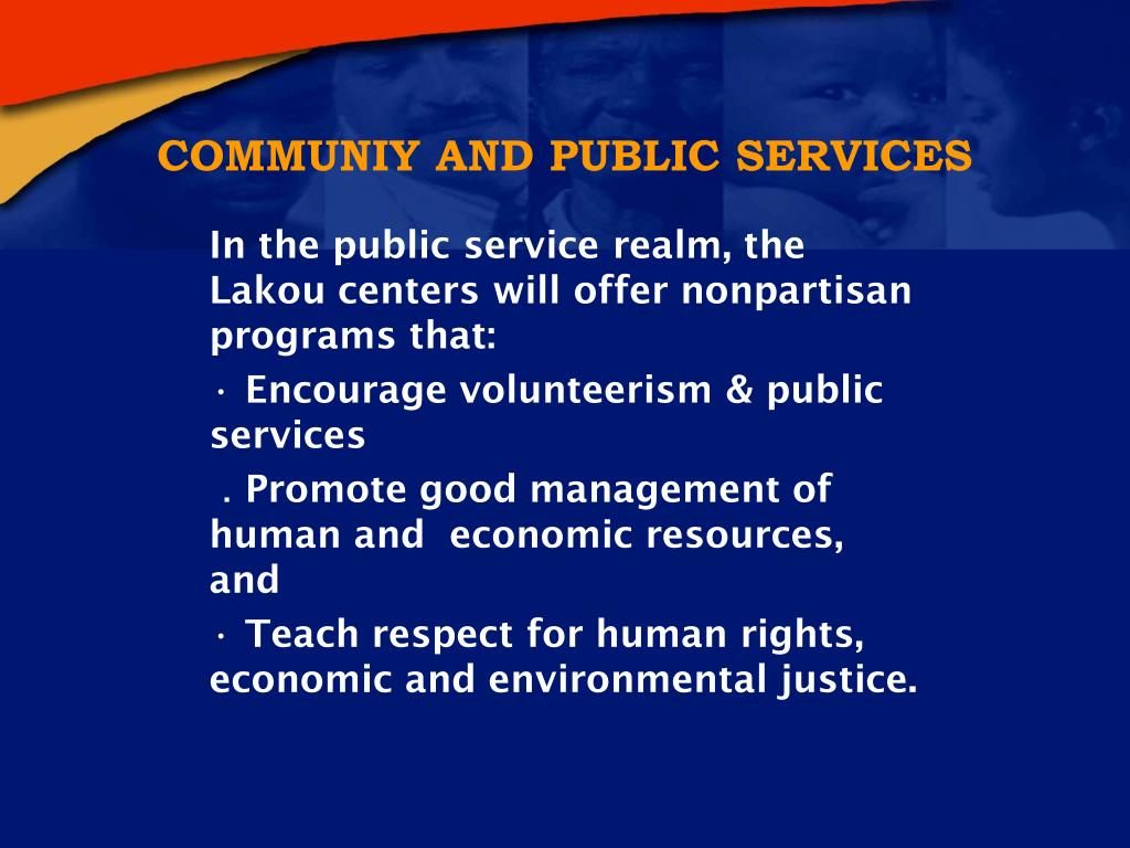 COMMUNIY AND PUBLIC SERVICES