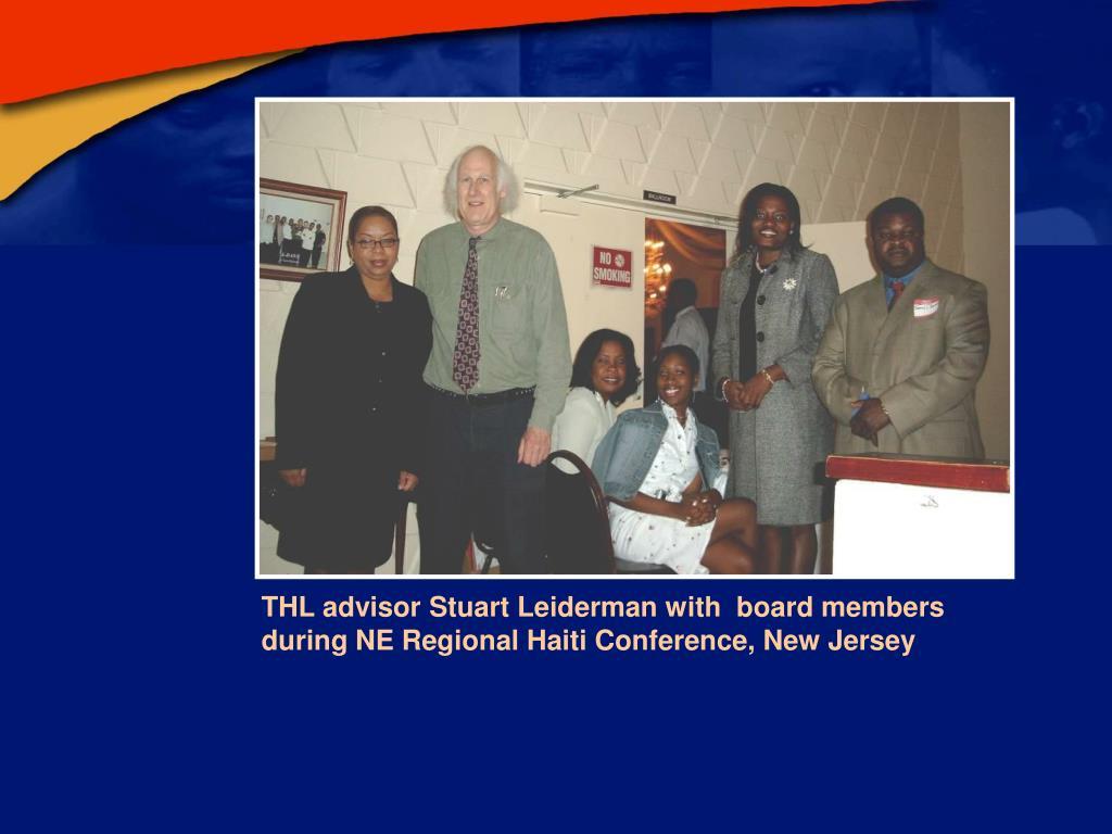 THL advisor Stuart Leiderman with  board members during NE Regional Haiti Conference, New Jersey