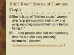 kric krac stories of common people