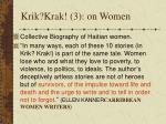 krik krak 3 on women