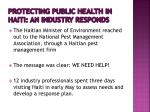protecting public health in haiti an industry responds4