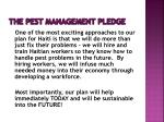 the pest management pledge14