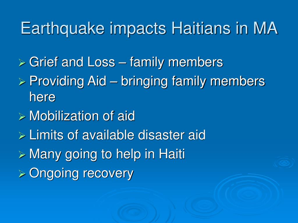 Earthquake impacts Haitians in MA