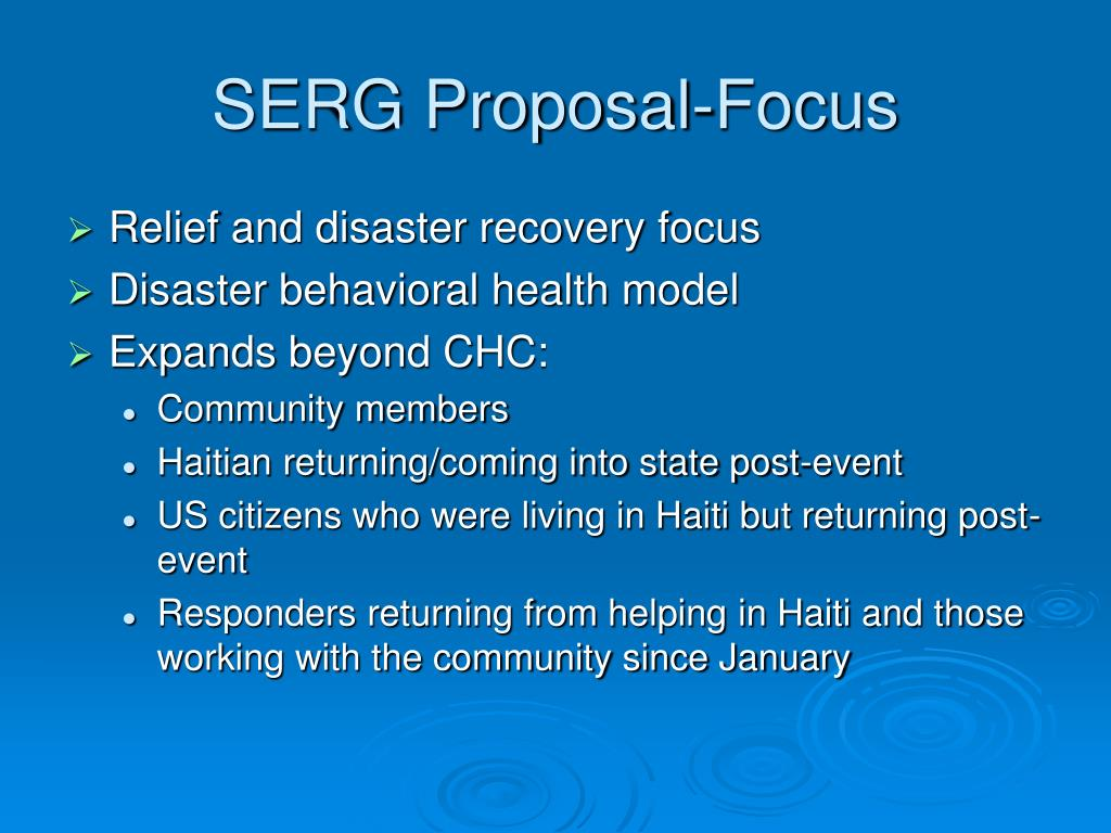 SERG Proposal-Focus